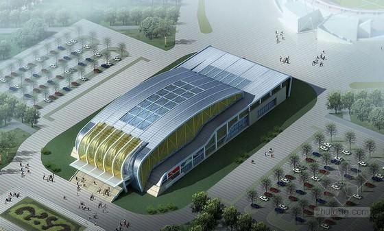 [云南]新建钢结构网球馆建筑安装工程结算书(含全套图纸)