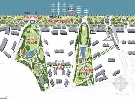 [上海]优美线型滨江弧形公园景观设计方案(国外设计所)