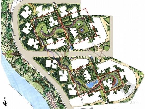 [成都]自然曲线现代住宅规划设计方案
