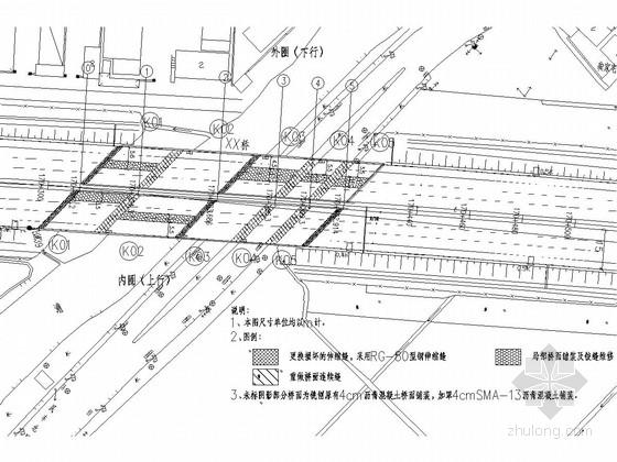 [上海]预应力混凝土板梁桥维修改造施工图设计16张