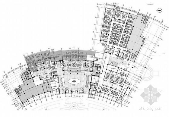 [安徽]某国际五星级饭店室内设计方案图