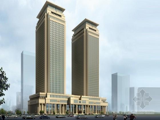 [山西]新古典主义风格五星级酒店及写字楼建筑设计方案文本
