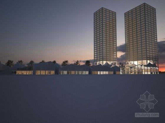 [成都]高层玻璃幕墙商业综合体建筑设计方案文本(国内知名地产 双语文本)