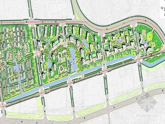 [北京]新都市主义滨河生态居住区景观规划设计方案