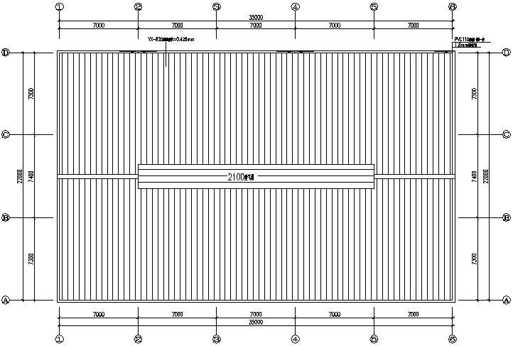 21X35m门式刚架厂房钢结构工程施工图(CAD,12张)