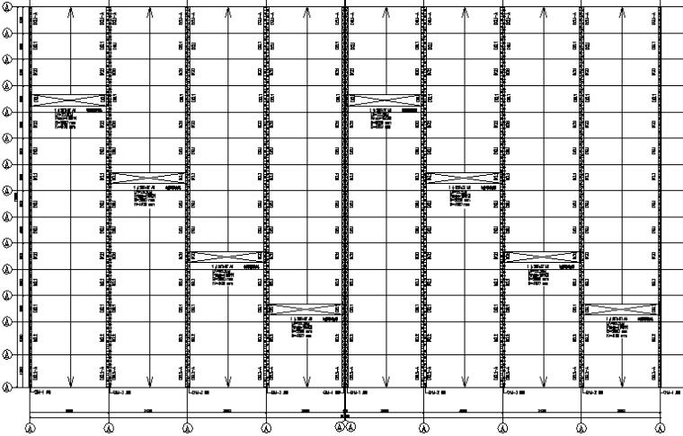 成都钢铁物流仓储门式刚架多跨钢结构施工图(CAD,14张)