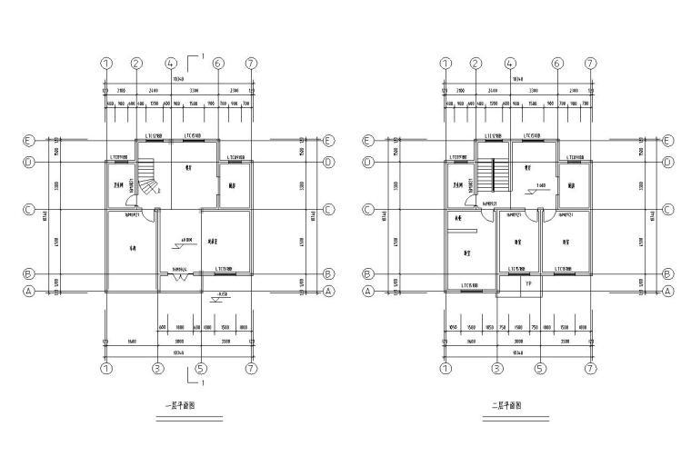 特色新农村独栋别墅(砖混结构设计)