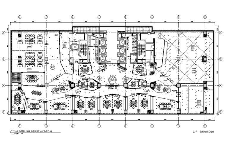 [上海]利丰广场办公空间设计施工图(附效果图)