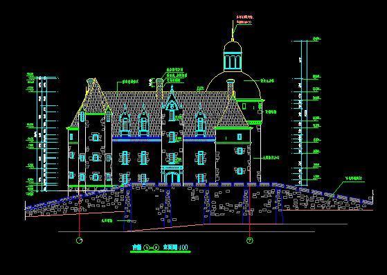 新中式风格古建筑施工图