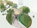 小清新风格街区景观SU模型(含psd文件)