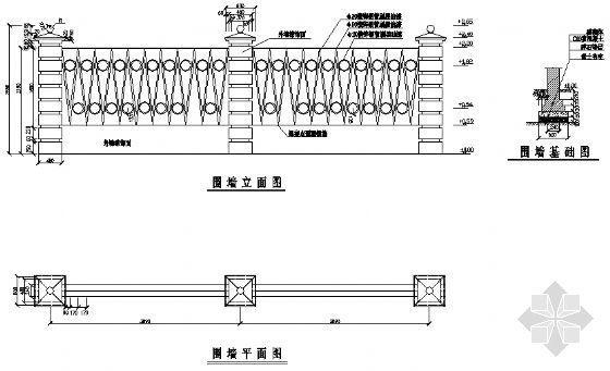 标准围墙详图(一)-4