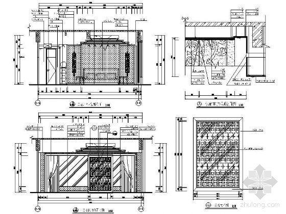 VIP包厢装修资料下载-豪华VIP包厢立面设计图Ⅳ