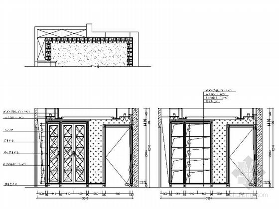 [深圳]三层别墅欧式风格样板房装修图(含效果图) 立面图