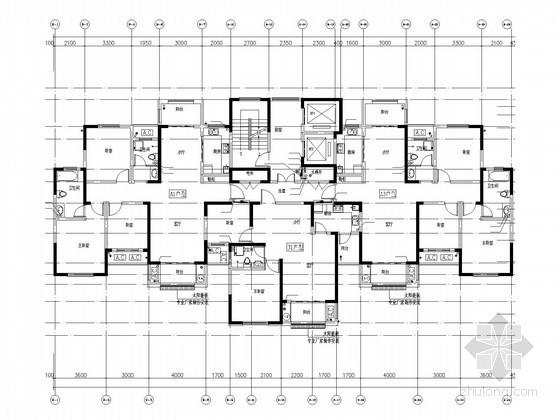 [河南]二类高层住宅楼给排水消防施工图