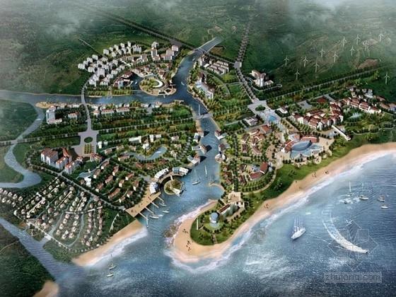 [青岛]滨海浪漫温泉度假区设计方案