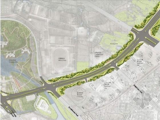 [北京]景区门户低碳环保道路景观设计方案