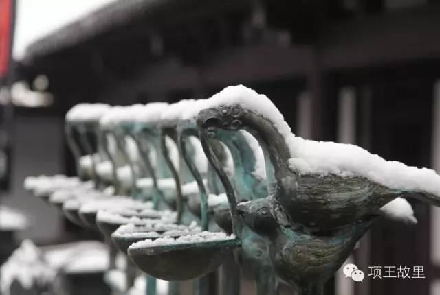 最美不过初雪,宿迁的项王故里就变成了西楚古城_16