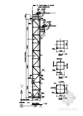 爬梯结构施工图