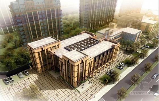 [安徽]四层混合风格知名地产配套售楼处建筑设计方案文本