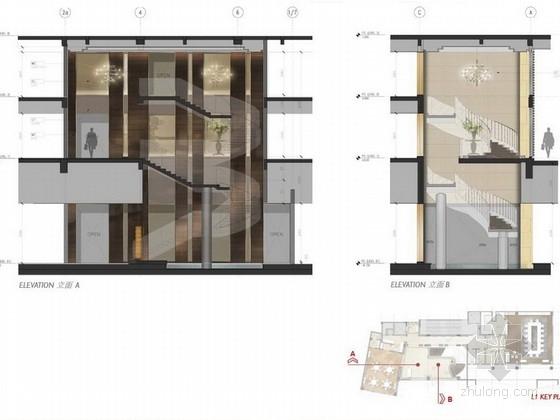 [珠海]独栋古堡式国际会所最终室内设计立面图