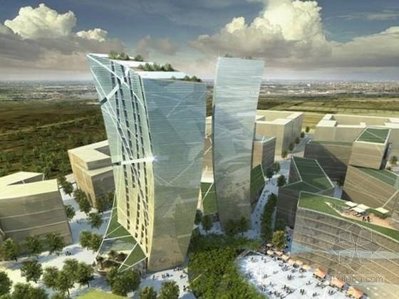 [四川]商业区规划及单体设计方案文本(两个方案)