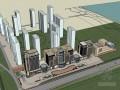 临街商业建筑SketchUp模型下载