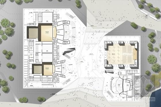 现代风格多层大剧院各层平面图