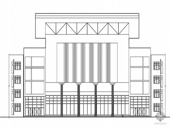 [唐山]海港某高中食堂宿舍多功能厅建筑施工套图