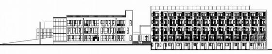 [北京]某后勤综合楼建筑施工图(总建筑面积9766.32平米,檐口高度20.20米,共4层,框剪结构)