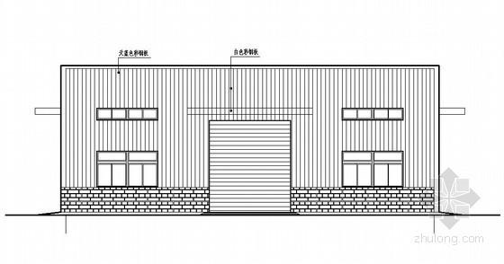门式刚架单层厂房结构计算实例(含结构图)