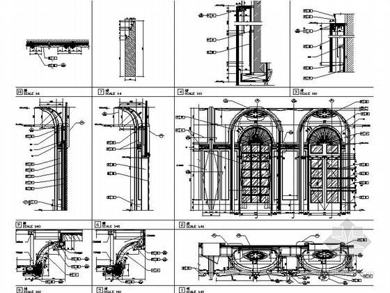 宴会厅欧式拱门详图