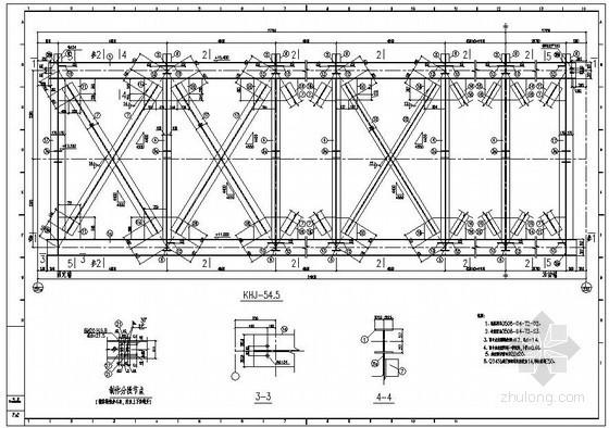 某化学工业区管架桁架构造详图