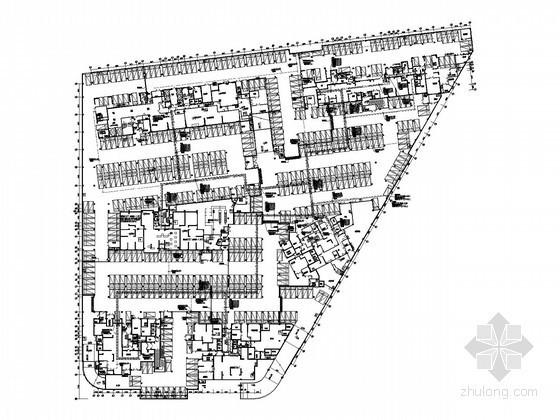 [西安]大型知名综合楼全套电气施工图纸210张(7栋高层 办公 商业 住宅 地下室)