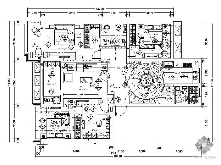 新简欧四室二厅装修图