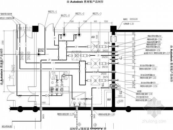 多层办公楼给排水消防施工图图片