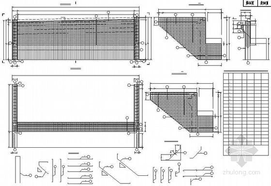 混凝土肋板式桥台耳墙、背墙钢筋布置节点详图设计
