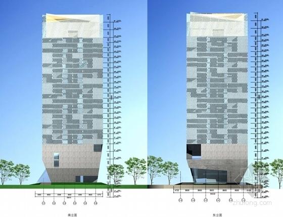 高层办公楼立面图