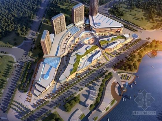 [河北]现代滨河城市综合体建筑设计方案文本