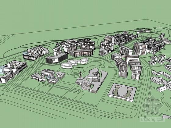 科技园大楼SketchUp模型下载