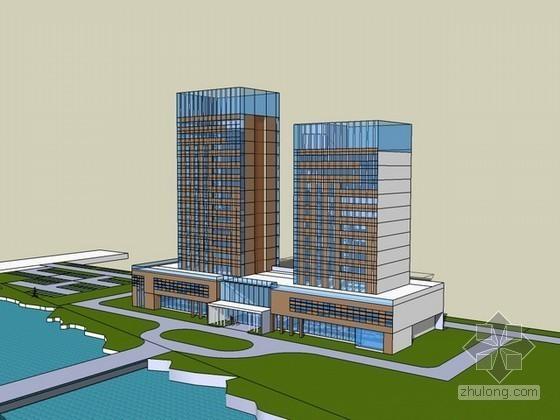 办公大楼sketchup模型