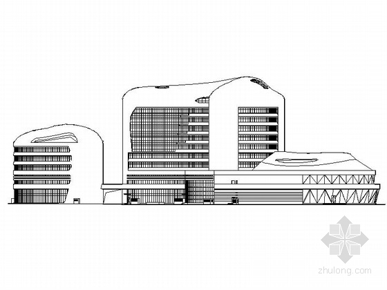 [内蒙古]五星级曲面高层剪力墙结构酒店建筑施工图