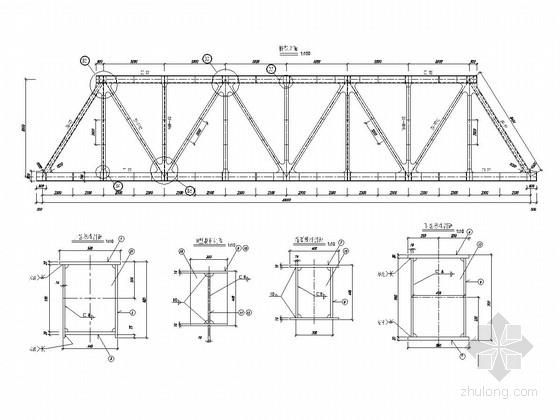 1-40米下承式简支钢桁梁桥设计套图(73张 含引桥设计)