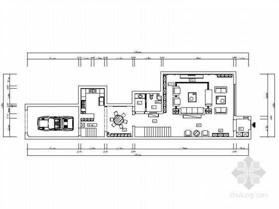 [银川]300简欧风格三层别墅样板间装修施工图
