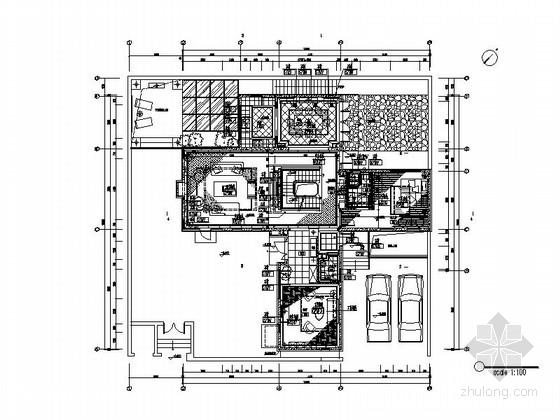 [北京]北美风情现代双层别墅室内设计装修图(含实景图)