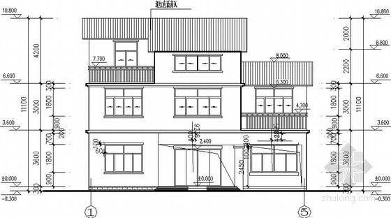 自建3层砌体别墅建筑结构施工图