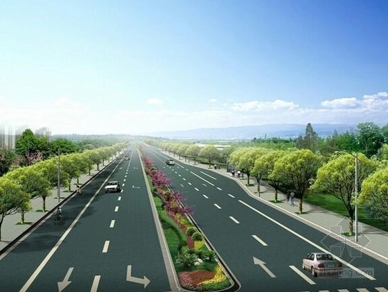 [山东]经济技术开发区道路绿化工程预算书(含施工图纸)