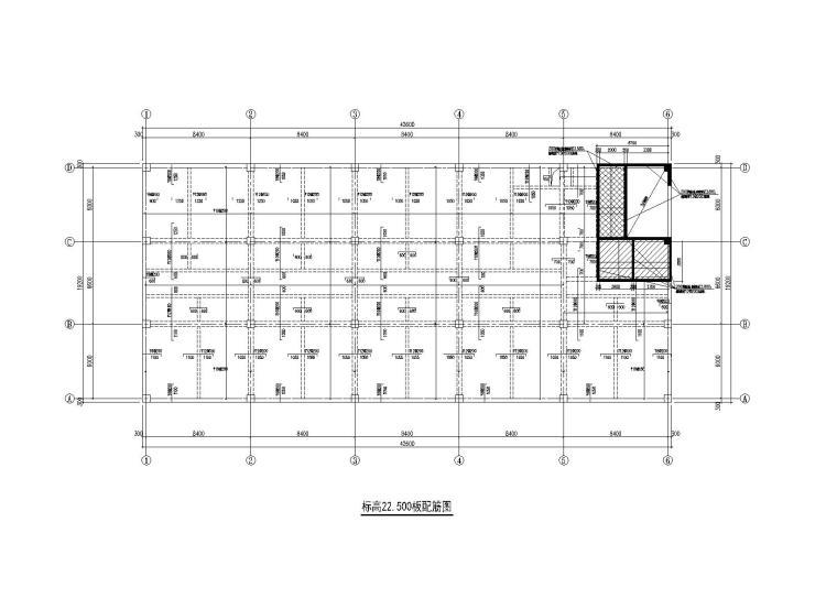 北京6层框架结构综合楼建筑结构水暖电图纸