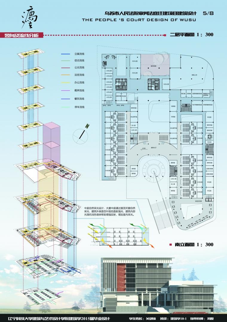 乌苏市人民法院审判法庭迁建项目建筑设计_6