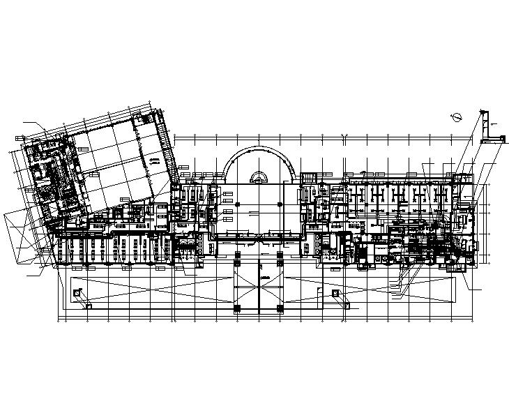 江苏知名地产高级宾馆暖通施工图(除湿热泵)