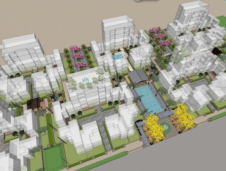 [上海]万科某现代风格居住区建筑方案文本(JPG+107页)